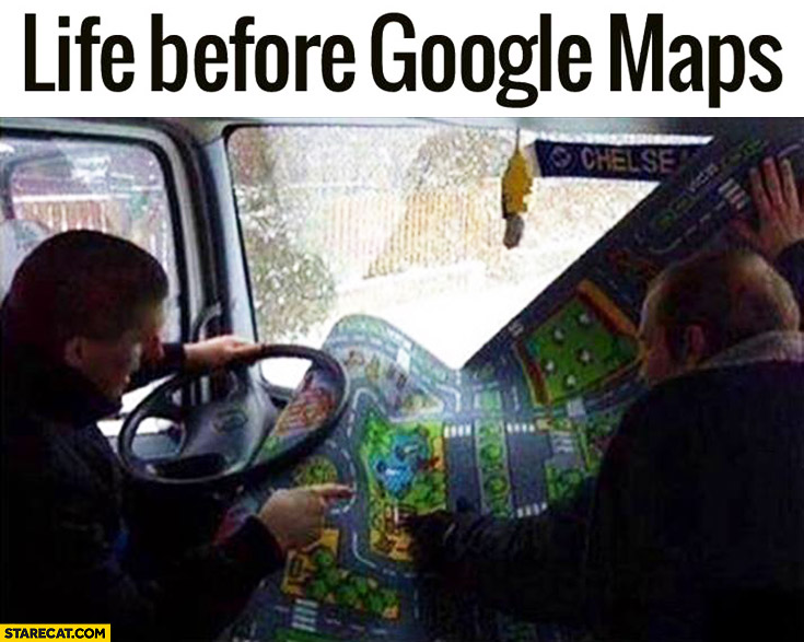 Life before Google Maps toy carpet map