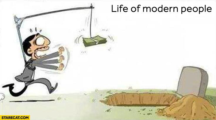 Life of modern people