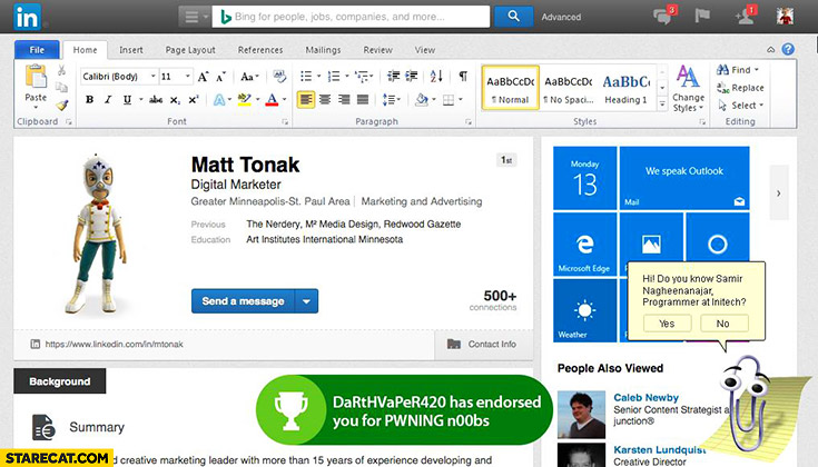 LinkedIn after Microsoft bought it