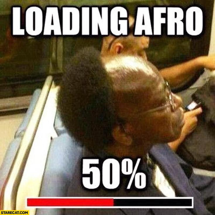 Loading afro 50% percent