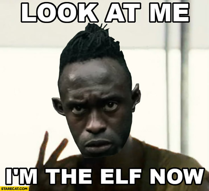 Look at me im the elf now black man the Witcher