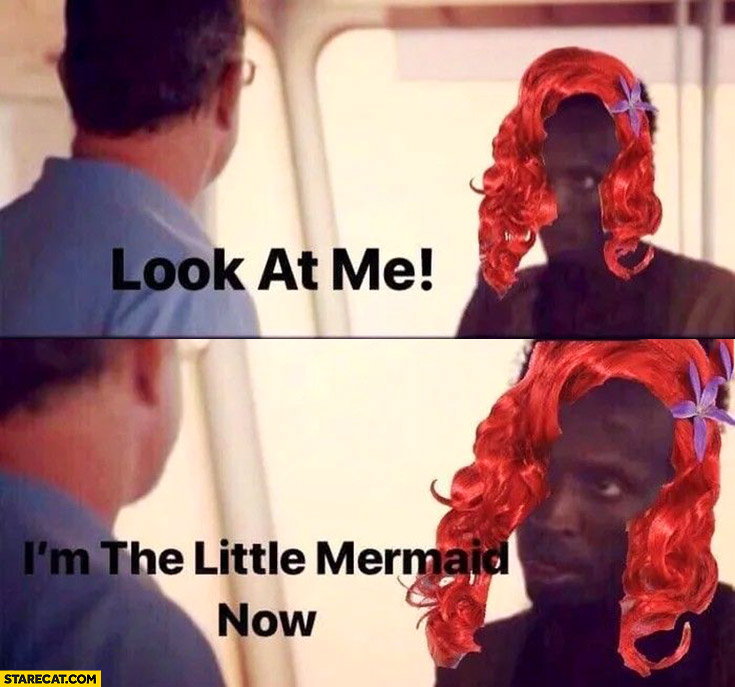 Look at me I'm the Little Mermaid now black man