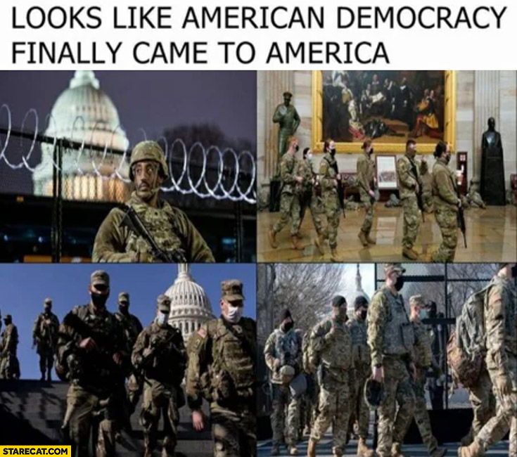 Looks like american democracy finally came to America army on the streets