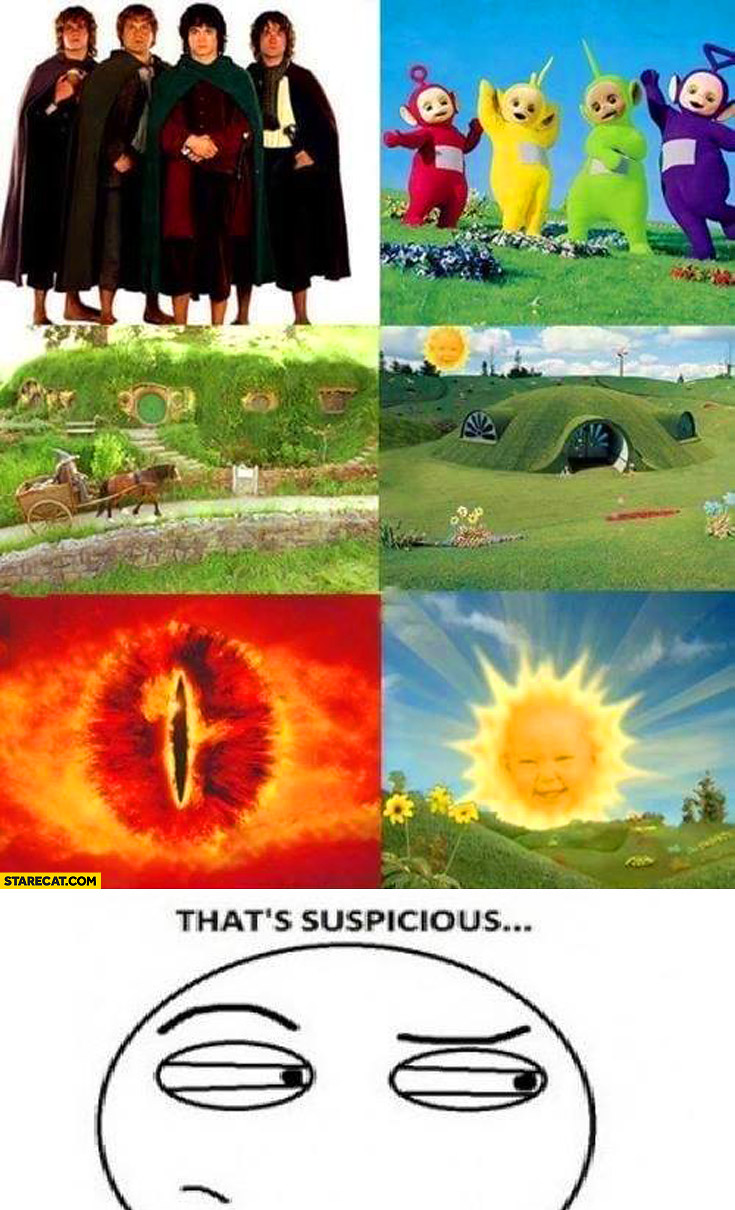 Lord of the Rings Teletubbies that's suspicious