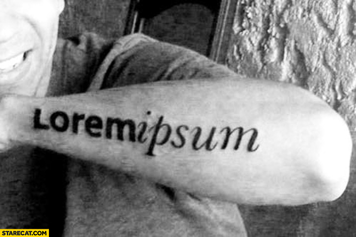 Lorem ipsum tattoo