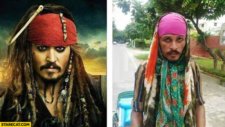 Low budget Jack Sparrow cosplay