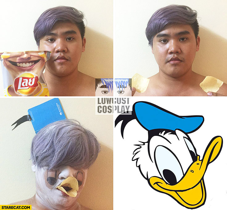 Low cost cosplay Donald Duck pack of chips crisps