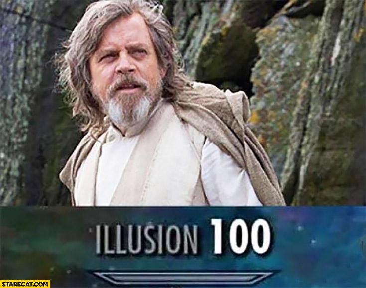 Luke Skywalker illusion 100 Star Wars
