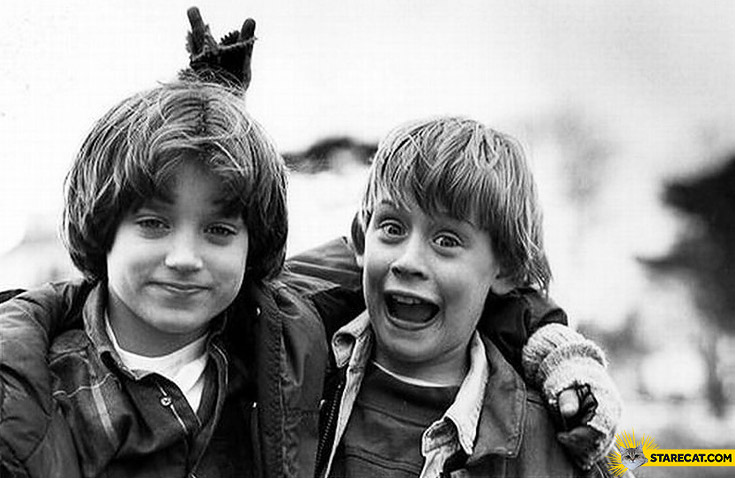 Macaulay Culkin Elijah Wood together one picture