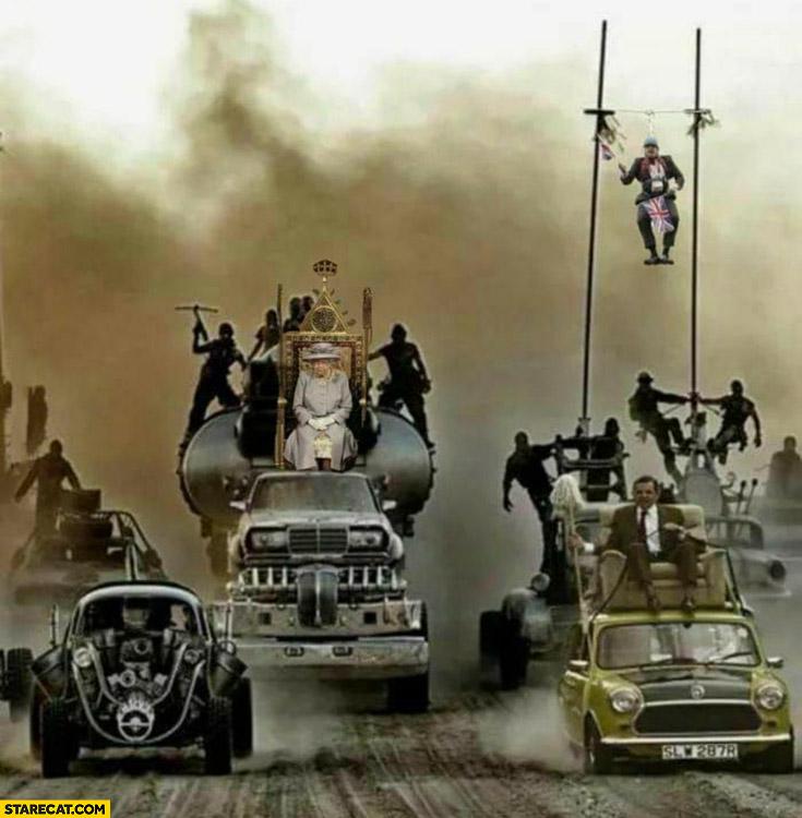 Mad max UK fuel shortage photoshopped