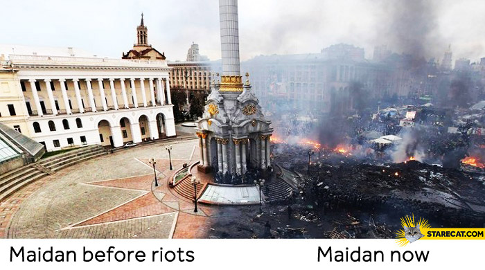 Maidan before riots now