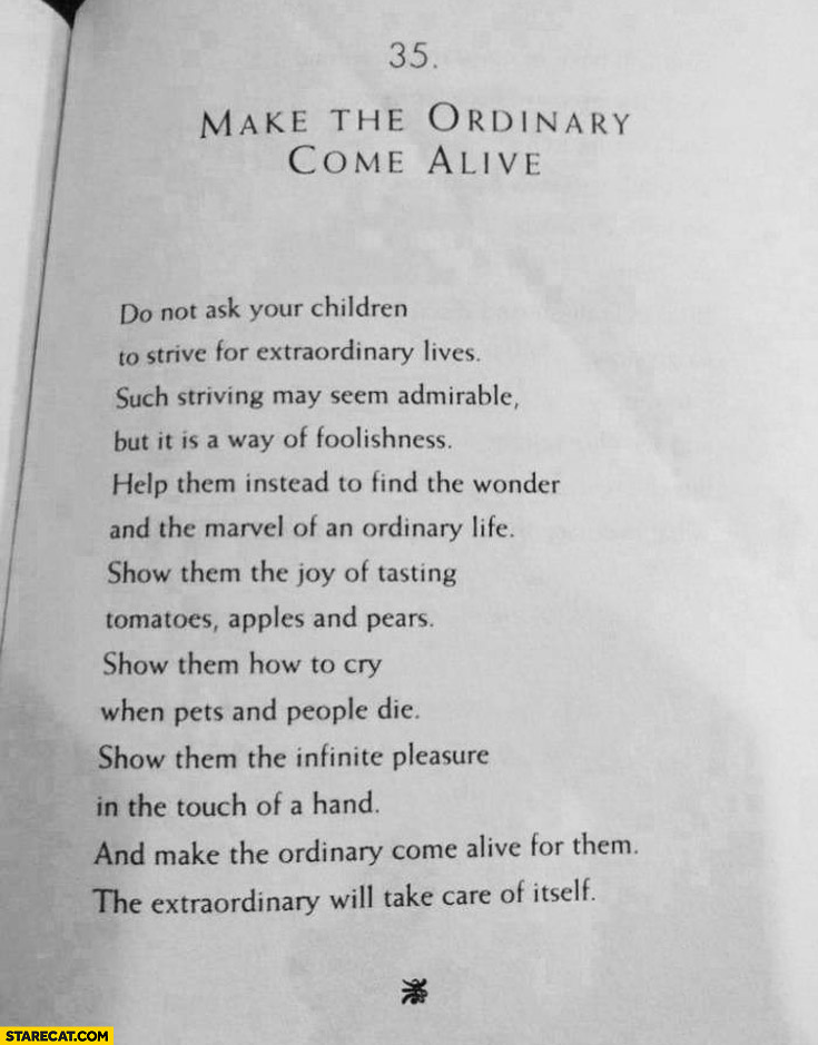 Make the ordinary come alive book quote