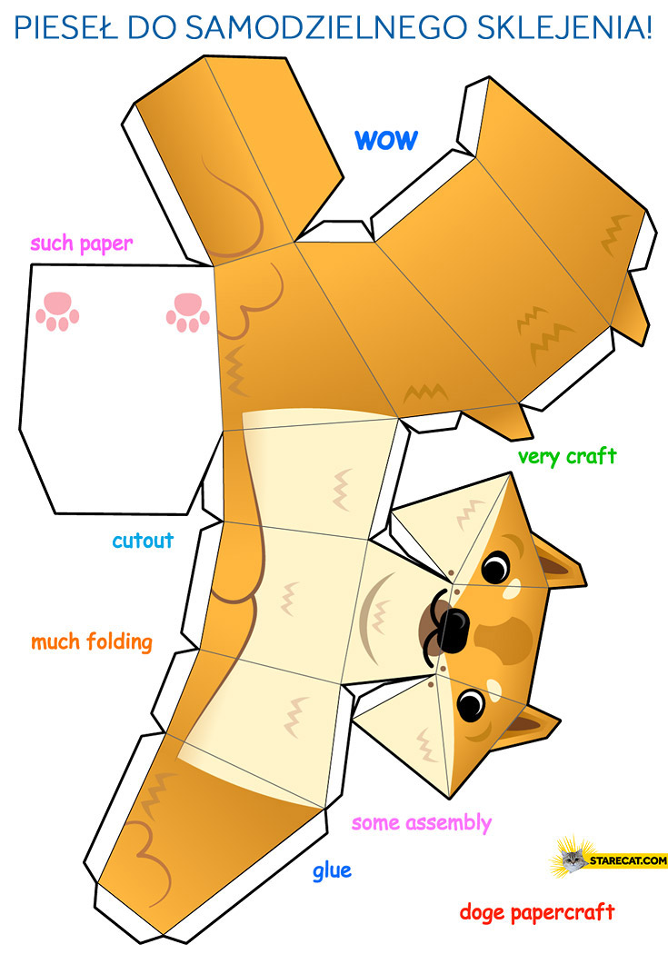 Make your own paper doge