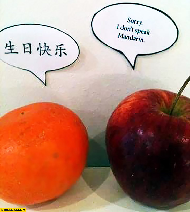 Mandarin talking to apple: sorry I don't speak mandarin