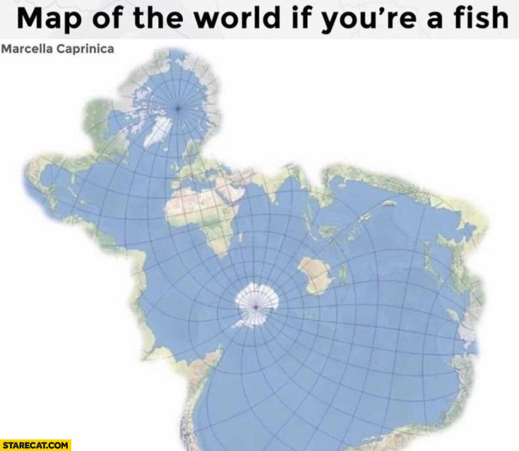 Map of the world if you're a fish