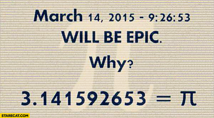 March 14 2015 will be epic PI number