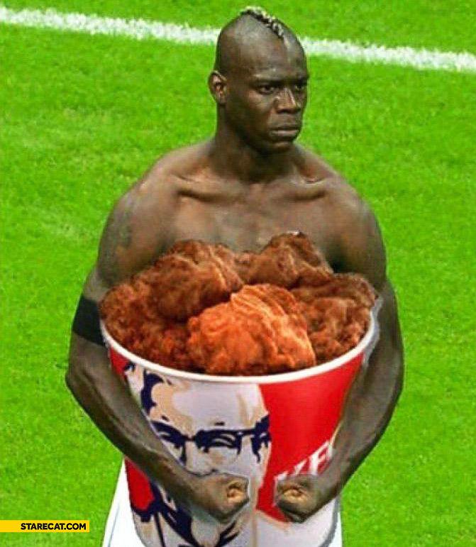 Mario Balotelli huge KFC