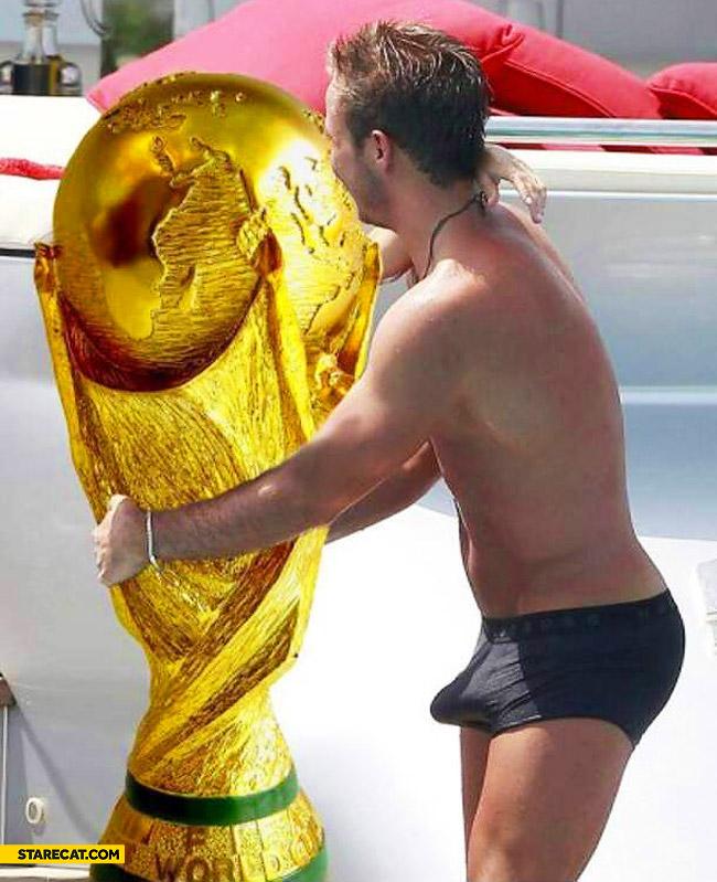 Mario Goetze cup erection