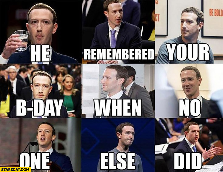 Mark Zuckerberg he remembered your b-day when no one else did facebook