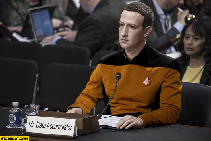 Mark Zuckerberg Mr Data Accumulator Star Trek photoshopped