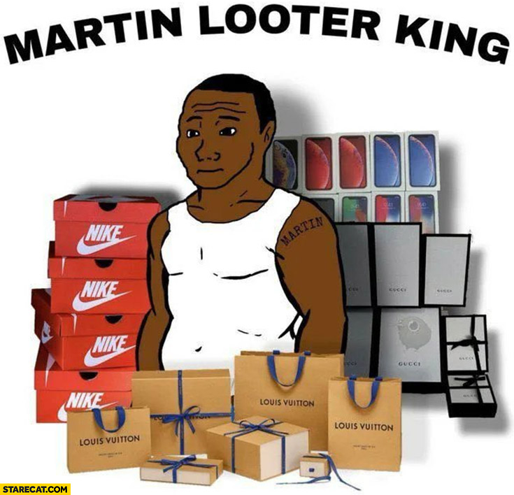 Martin Looter King black lives matter riots protester