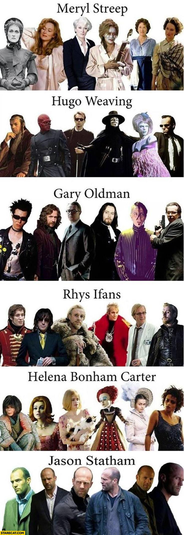 Maryl Streep, Hugo Weaving, Gary Oldman, Rhys Ifans, Helena Bonham Carter, Jason Statham