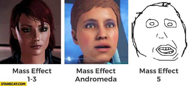 Mass Effect 1 to 3 vs Mass Effect Andromeda Mass Effect 5 trolling
