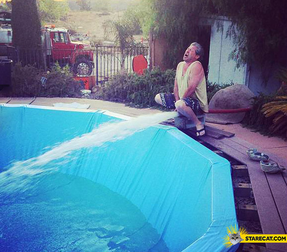 Massive pee swimming pool