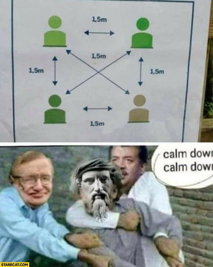 Math distance fail calm down
