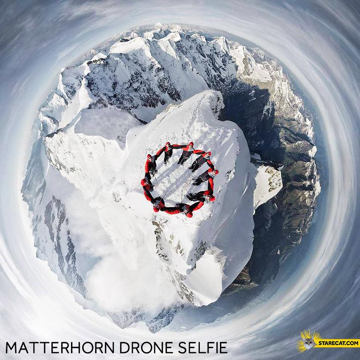 Matterhorn drone selfie