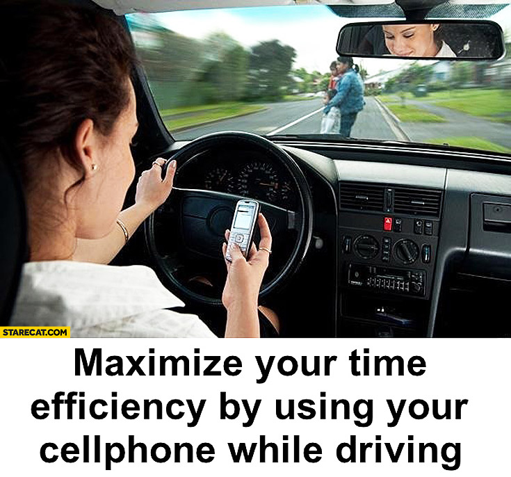 Maximize your time efficiency by using your cellphone while driving tip