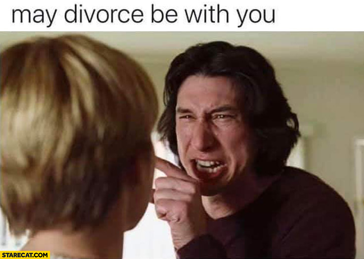 May divorce be with you Kylo Ren Adam Driver Marriage Story