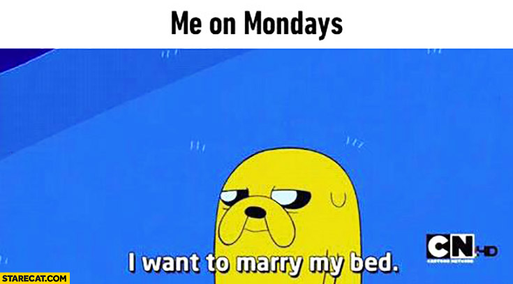 Me on Monday I want to marry my bed Adventure Time