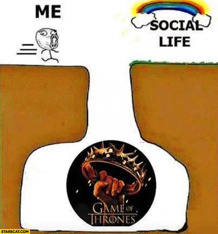 Me social life Game of Thrones