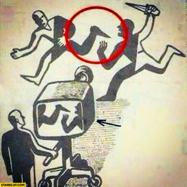 Media showing false view not truth