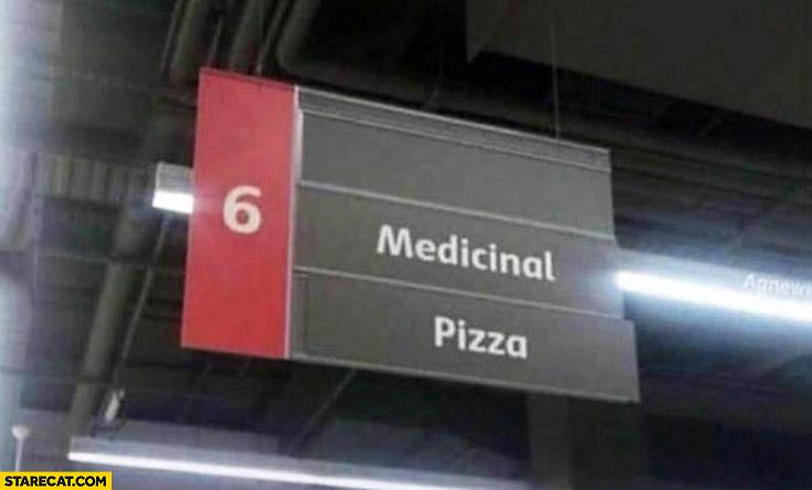 Medicinal pizza market supermarket