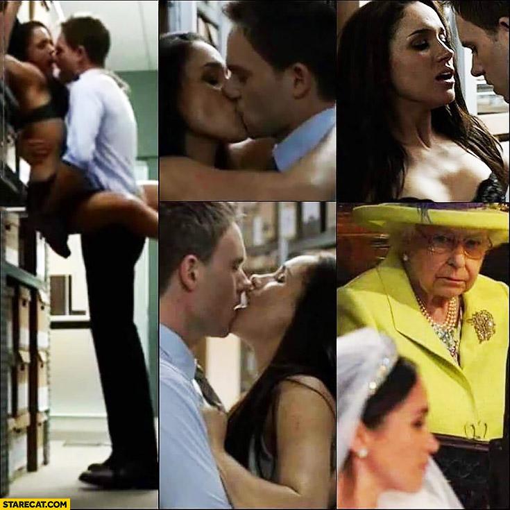 Meghan Markle Suits scene Queen Elizabeth not happy about it royal wedding