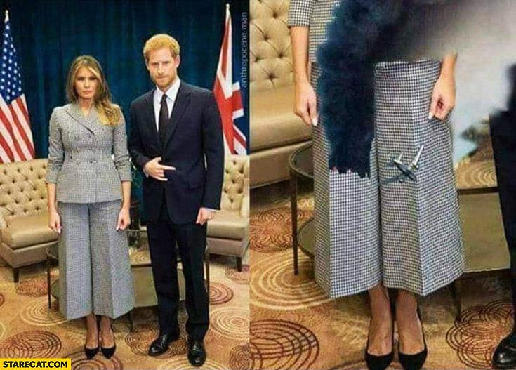 Melania Trump two towers World Trade Center pants dress