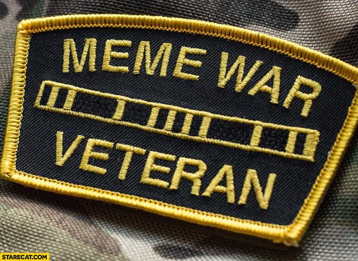 Meme war veteran patch