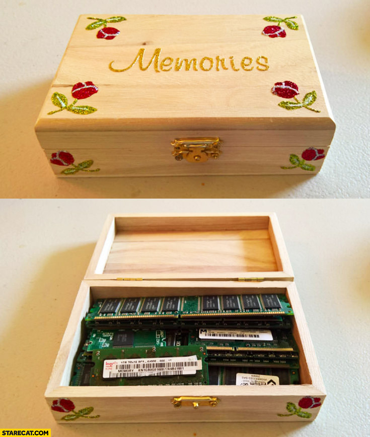 Memories box with RAM modules inside