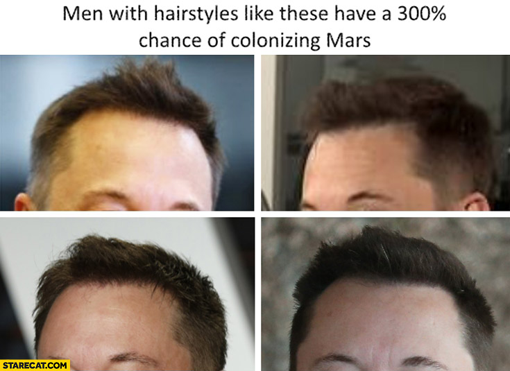 Men with hairstyles like these have 300% percent chance of colonizing mars Elon Musk
