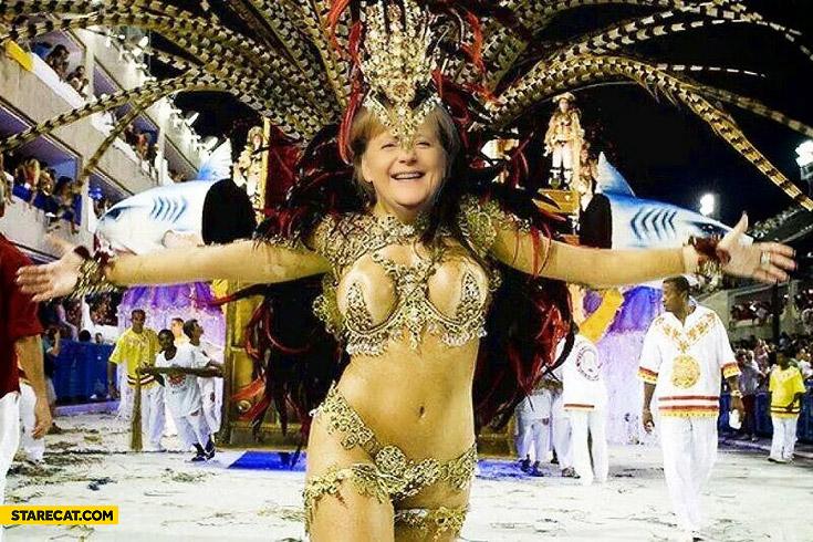 Merkel dances samba