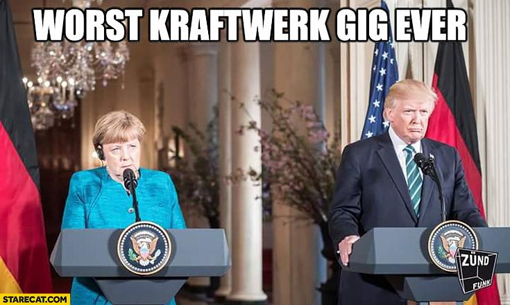 Merkel Trump worst Kraftwerk gig ever