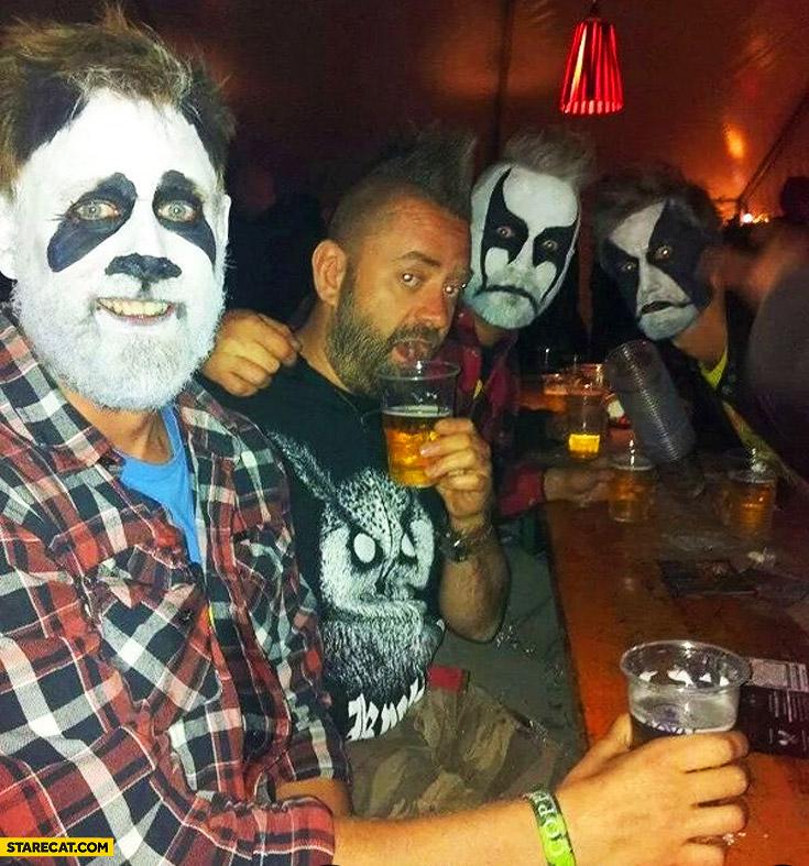 Metal music fan or a panda?