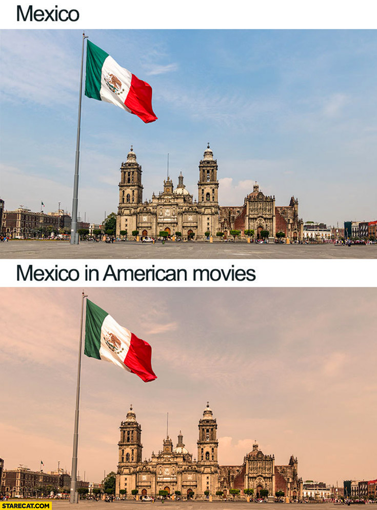 Mexico vs Mexico in American movies yellow colours