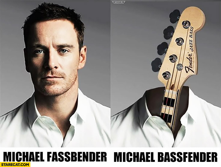 Michael Fassbender vs Michael Bassfender word play