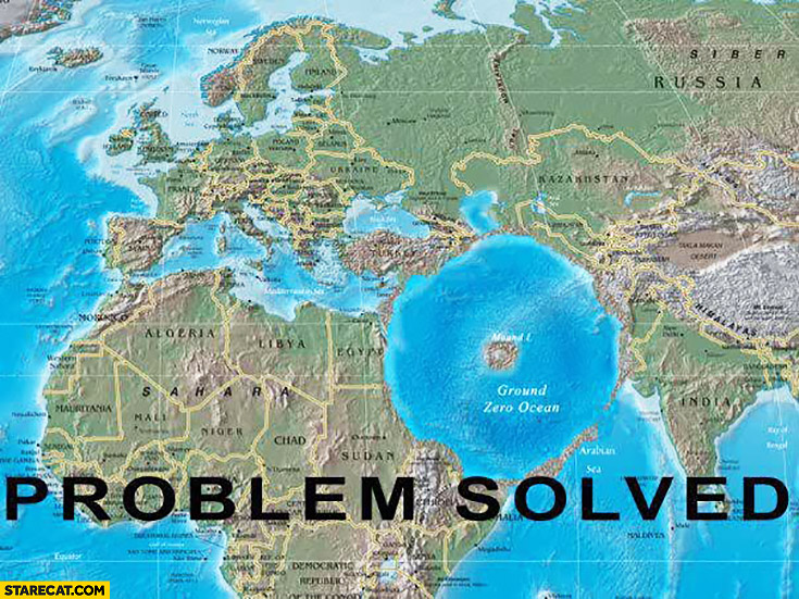 Middle East ground zero ocean problem solved