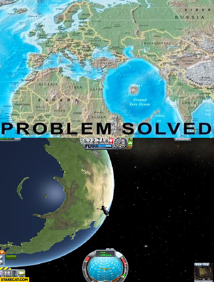 Middle east problem solved – ground zero ocean