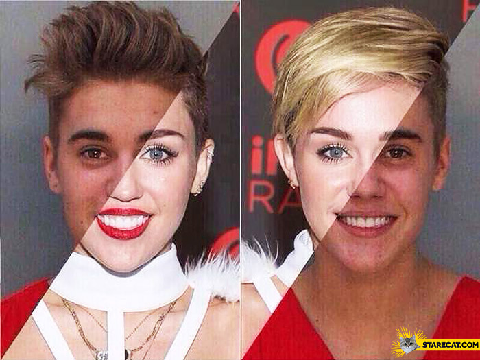 Miley Cyrus Justin Bieber