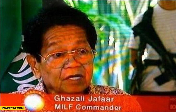MILF commander Ghazali Jafaar